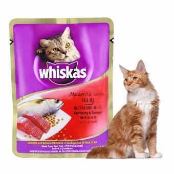 Harga Whiskas Pouch Mackerel & Salmon