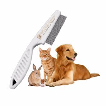 WiyadiStore - Sisir Kutu Hewan Anjing Kucing - Putih