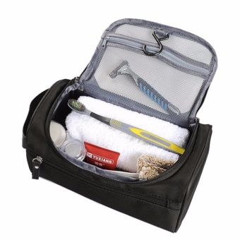Harga Women Men Waterproof Travel Cosmetic Bag Hanging Trunk Makeup CaseZipper Trunk Make Up Bag Organizer Storage Pouch Toiletry Bag -intl