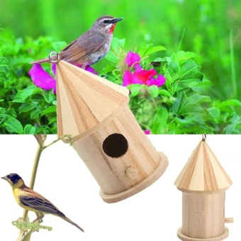 Wooden Garden Birds Wood Nesting Box House Nest Supply NewAccessories - intl ...