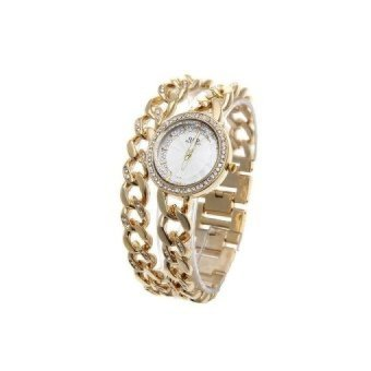 WSJ Stainless SteelBracelet Wrist Watch (Gold) - intl