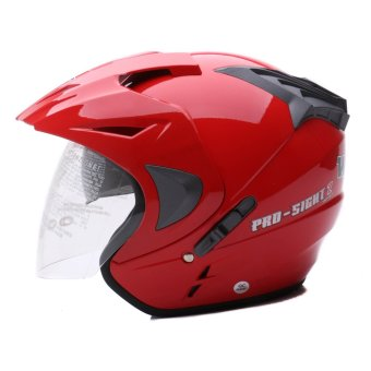 WTO Helmet - Double Visor - Pro-Sight - Merah