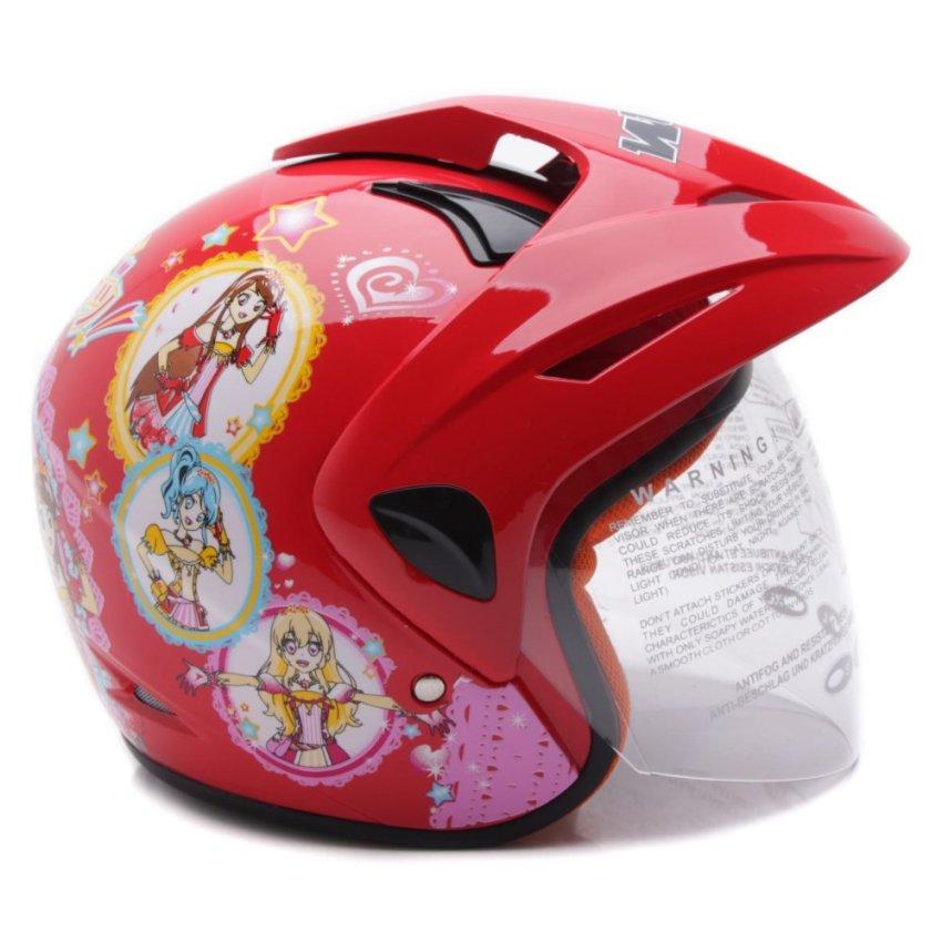 Home WTO Helmet Kids Pet Aikatsu Merah prev next .