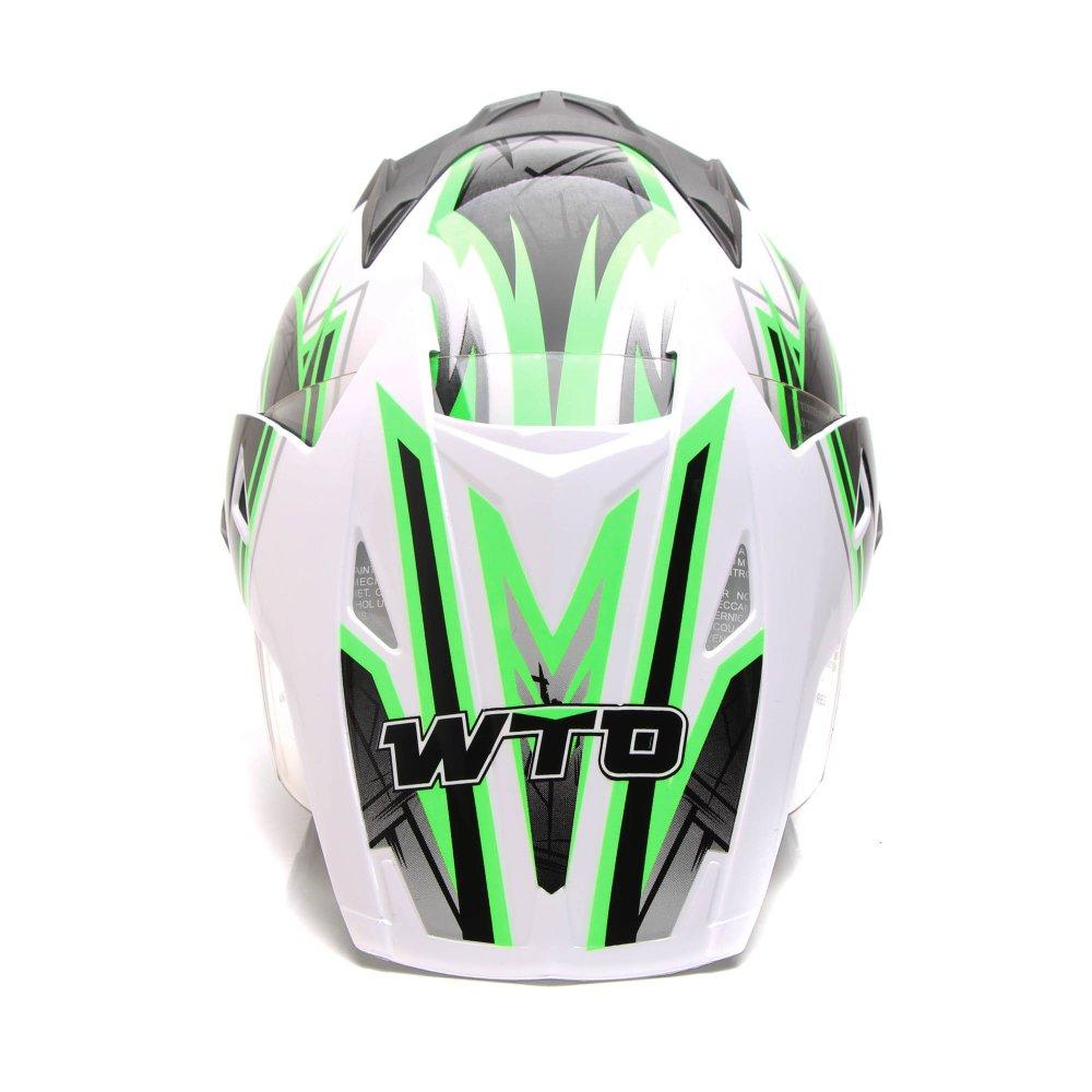 Perbandingan Harga Wto Helmet Pro Sight Cross Putih Hijau Promo Jaring Helm All A Gratis