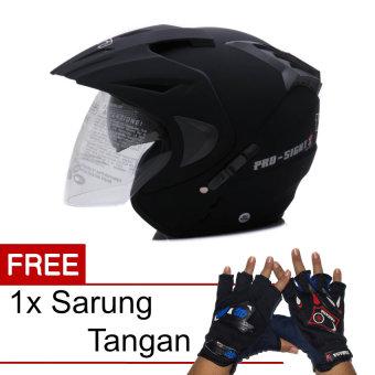 WTO Helmet Pro-Sight - Hitam Doff + Promo Gratis Sarung Tangan