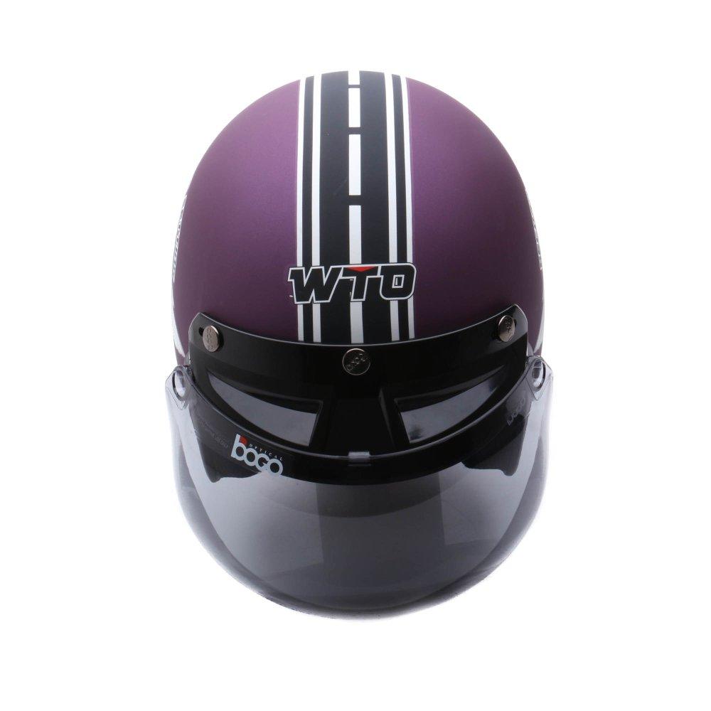 Harga Baru Wto Helmet Retro Bogo 66 Violet Doff Promo Gratis Jaring Helm All A