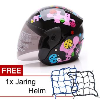WTO Helmet Junior Neo Mc Queen Cars Merah Helm Anak. Source. ' WTO Helmet Z1R KOP - Little Bug - Hitam Pink + Promo Gratis JaringHelm