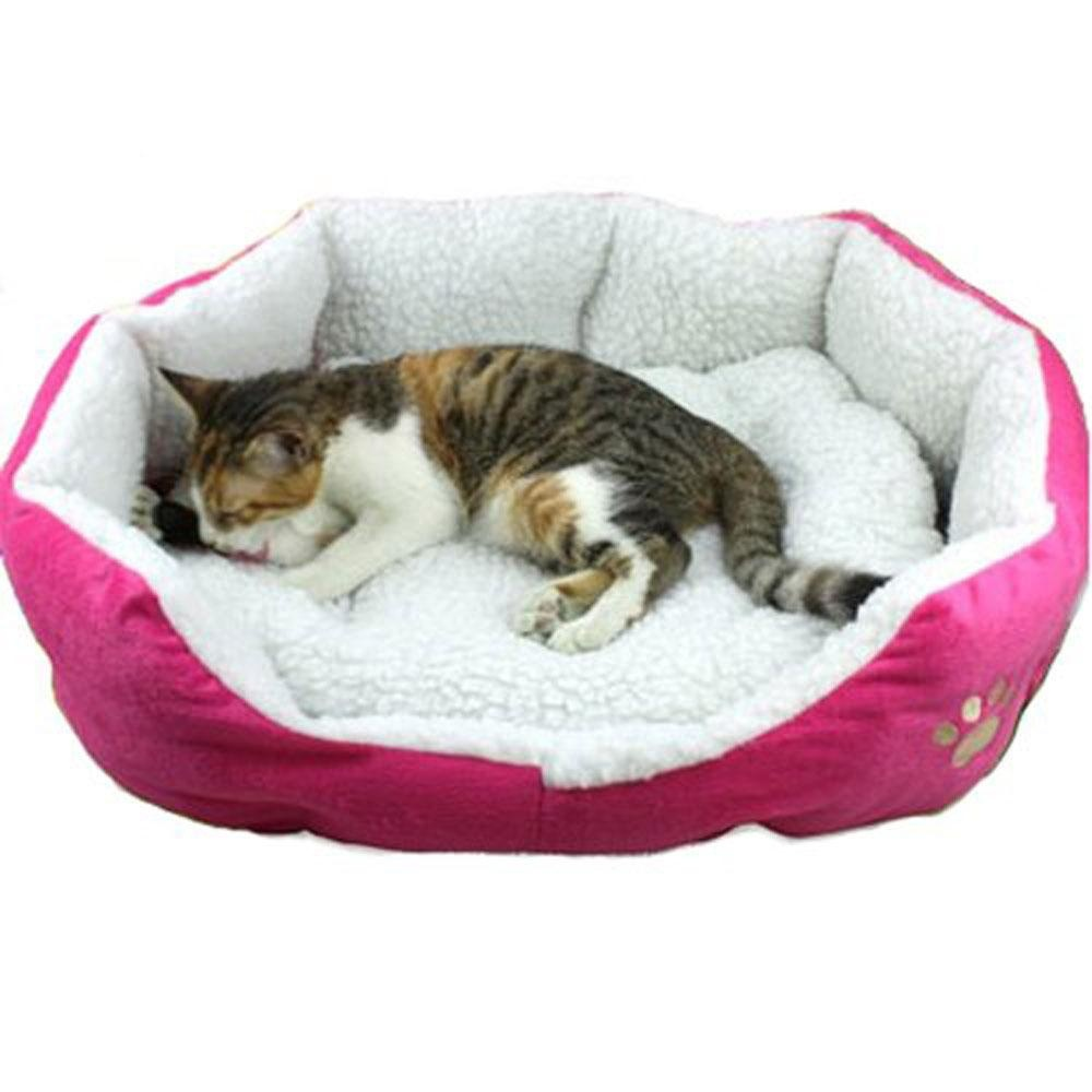 xudzhe Comfy Pet Bed With Detachable Pad (L,Rose) - intl