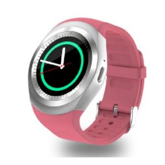 Y1 Smart Watch dengan 1,54 penuh Round layar mendukung Nano SIM &TF kartu pria