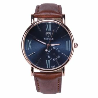 YAZOLE Jam Tangan Pria Quartz Wristwatches Quartz 327 - Brown Blue
