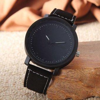 YBC Dial jam tangan Unisex kepribadian sederhana kulit PU arloji kasual - Internasional