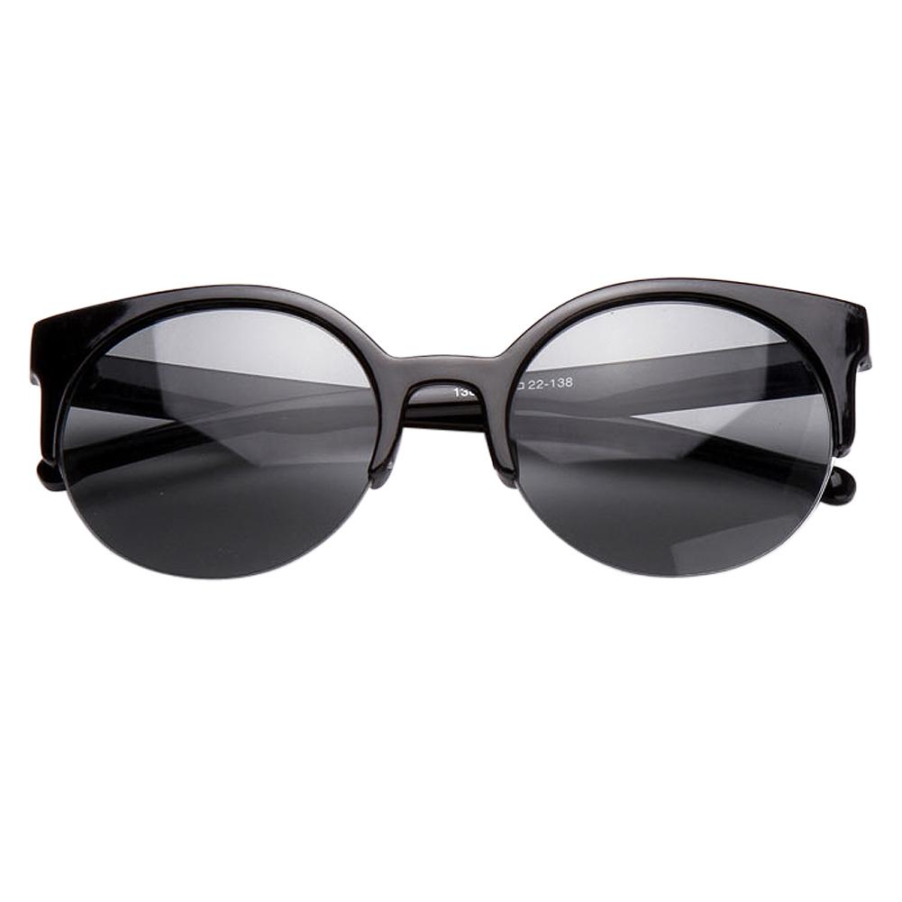 ... Wanita Cermin Kacamata Hitam. Source · YBC mata kucing semi tanpa bingkai kacamata hitam dengan lingkaran kaca lensa kacamata .