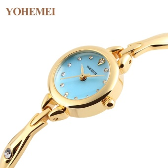 5e0994b06 YOHEMEI 0184 Fashion Watches Luxury Brand Women Rhinestones Watch  Waterproof Gold Color Alloy Strap Quartz Wrist