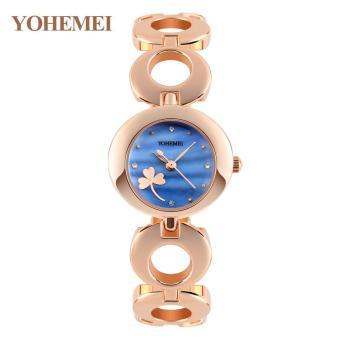 YOHEMEI Fashion Bracelet Style Women's Quartz Watch Ladies Luxury Watches Girl's Wrist Watch - Blue - intl