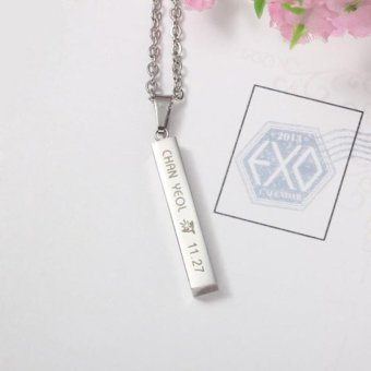 Youpop KPOP EXO CHANYEOL EXACT Monster Lucky One Chain PendantNecklace K-POP Accessories Jewelry For Music Men Or Women Boy Girl- intl