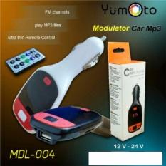 yumoto MP3 FM Modulator Remote, Slot USB & SD/MMC warna random