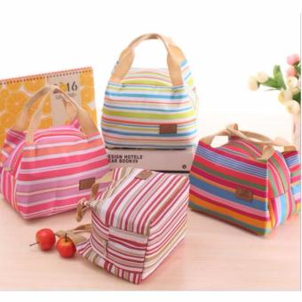 ZN23 Lunch bag Cooler Bag Motif Salur (bonus 2pcs jelly ice cooler)