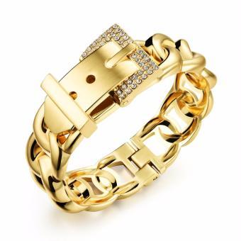ZUNCLE Antialergi 2015 Baru Mode Perhiasan 24 KB Emas Berlapis Gelang (emas)