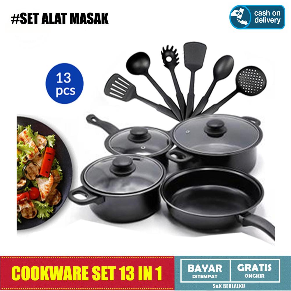 Cookware Set 4 Pcs Non Stick Anti Lengket Peralatan Masak Panci - Set  Peralatan Masak Komplit
