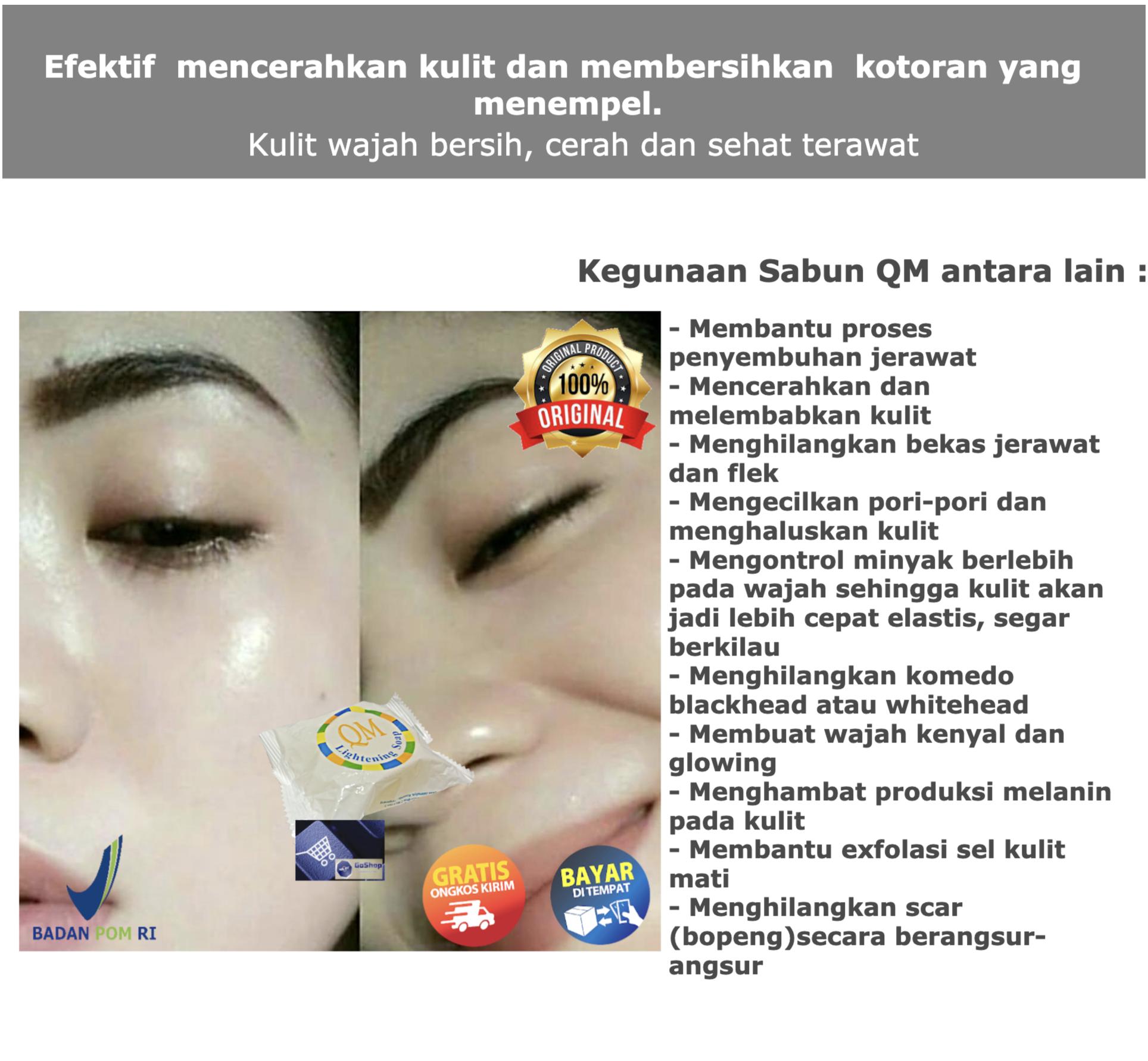 Hoki Cod 1 Pcs Sabun Qm Sabun Pemutih Wajah Sabun Glowing Pengecil Pori Pori With Arbutin Bpom Dosting Gluta Fruity Fruitamin Susu Domba Ssd Klinskin Lazada Indonesia