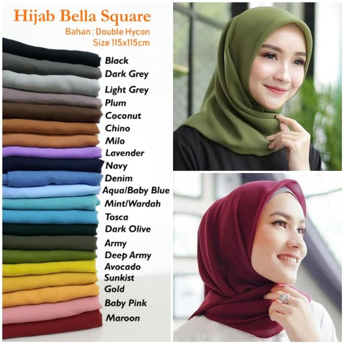 Jilbab Segi Empat Bella Square Jilbab Segi Empat Polos Jilbab Segi4 Lazada Indonesia