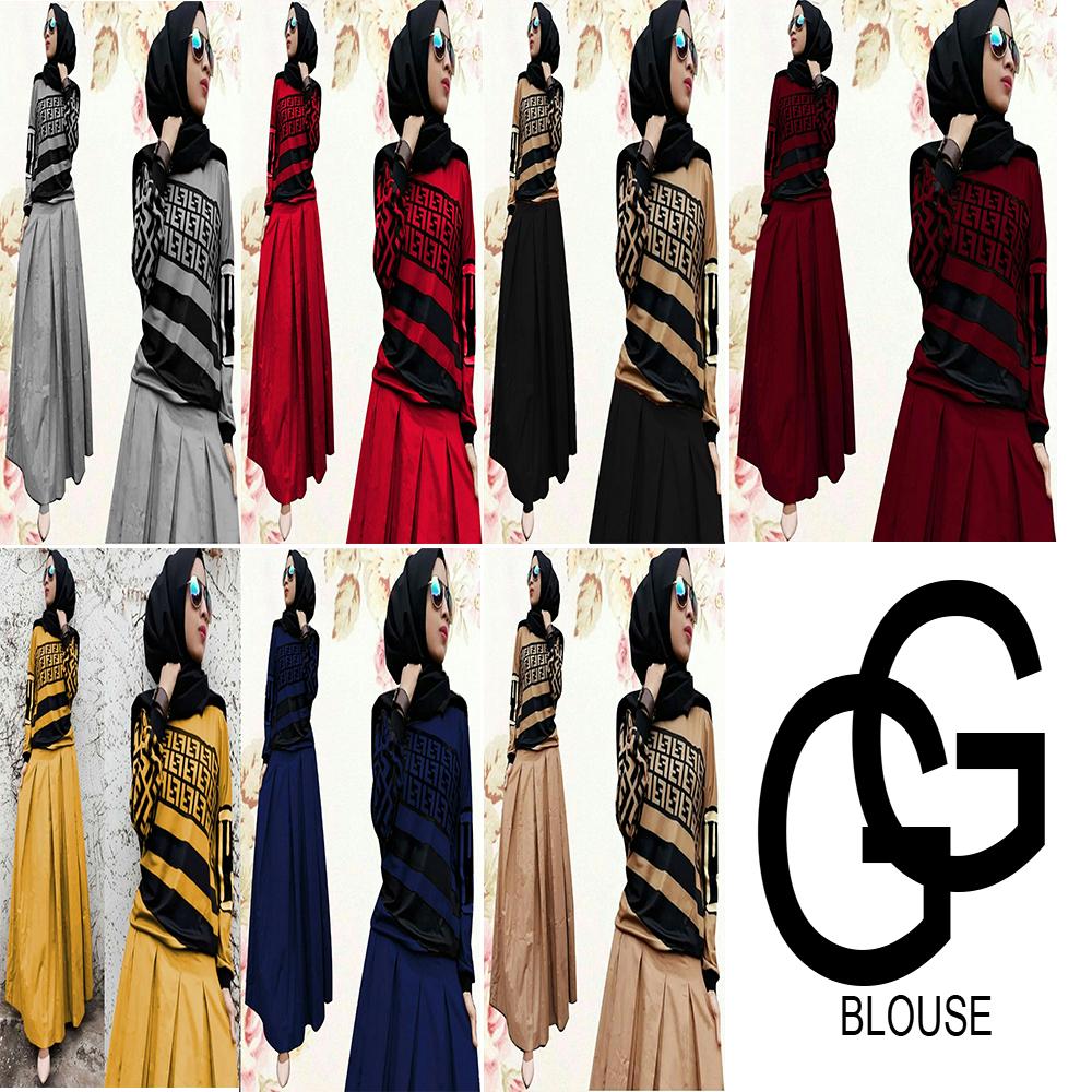 setelan fendy - gamis hijab terbaru 11 - setelan muslim fendy - setelan  dress fendy rok - fashion maxi - fashion muslim - baju muslim - baju fendy  -