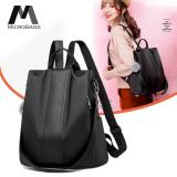 กระเป๋าสะพายพาดลำตัว นักเรียน ผู้หญิง วัยรุ่น ปทุมธานี MicroBang กระเป๋าเป้สะพายหลังกระเป๋าผ้าไนล่อนขนาดเล็กลายกระเป๋าสะพาย Women Backpack Fashion Korean Style Travel Bag Casual Shoulder Bags Waterproof Oxford Cloth Bag with Pu Leather Strap