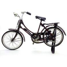 Central Kerajinan Miniatur Sepeda Ontel Wanita / Sepeda Onthel - Coklat