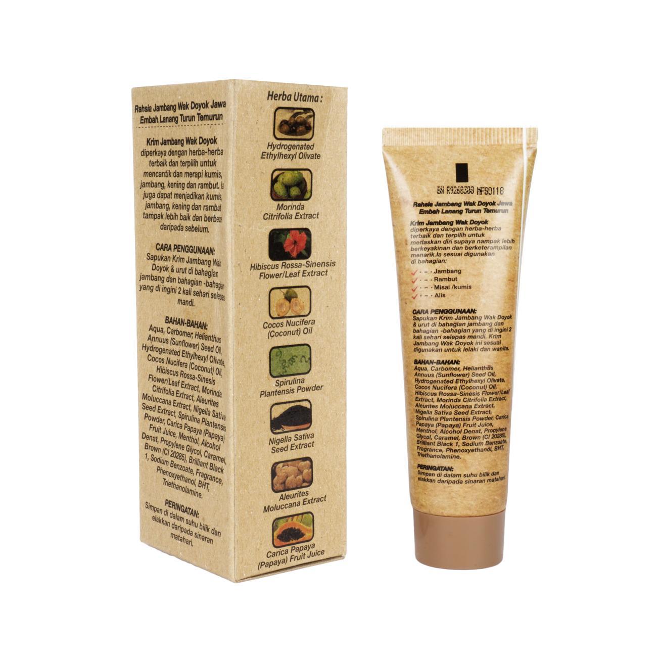 Wak Doyok Krim mempunyai banyak manfaat, aman untuk segala jenis kulit, tidak menimbulkan efek samping pada kulit, dan juga bisa dikonsumsi oleh pria dan ...