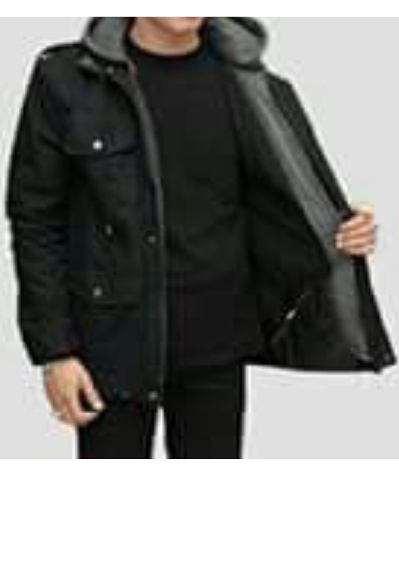 Jaket Pria Parka Hoodie - Hitam  Membeli jualan online Jaket Parasut ... 0d64fdc3b0