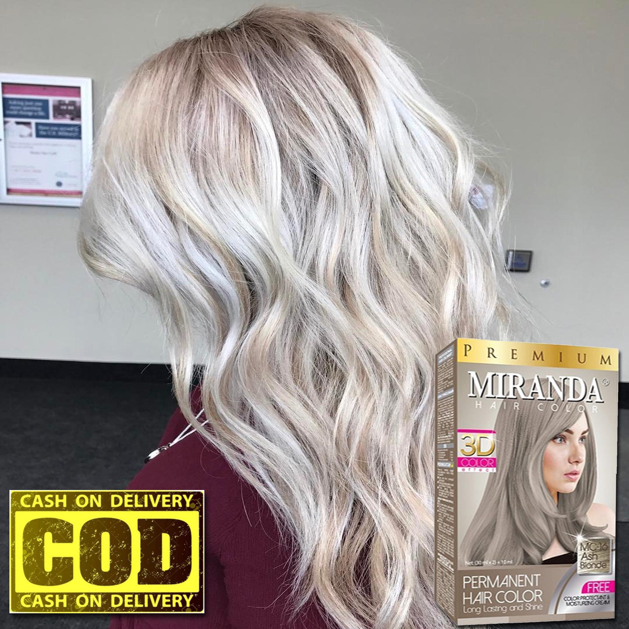 Miranda Premium Hair Color Original 100 Bpom Mc 16 Ash Blonde Cat Pewarna Rambut Cat Rambut Pikok Semir Rambut Lazada Indonesia