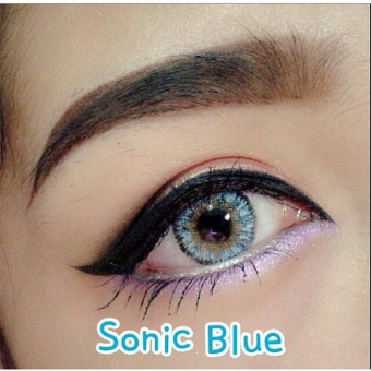 Dreamcolor1 Softlens UV Protection Sonic - Blue + Gratis Lens Case