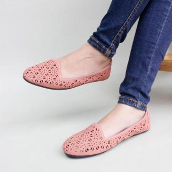 Pluvia - Gratica Sepatu Flat Shoes Wanita Laser B07SR - Salem