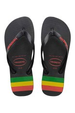 Havaianas Stripes (Rasta) Black/Ruby Red