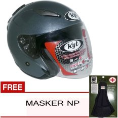 KYT Galaxy Slide Solid - Abu Abu + Gratis Masker NP