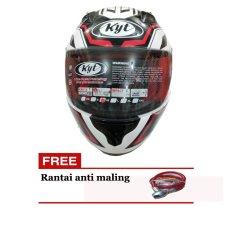 KYT RC7 motif Helm Pria - Hitam-Putih - ABS Orisinil - KYTRC7 321