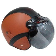 Matrix Helm - Helm Bogo Coklat Muda Hitam