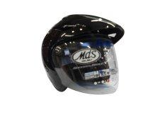 MDS-Protector-Half Face-Hitam Metalik