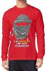 T-Shirt Glory Kaos 3D Moslim Lengan Panjang Red - Merah