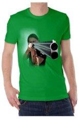 T-Shirt Glory Kaos 3D Shooting Hijau Tua - Hijau Tua